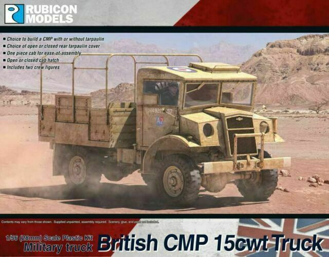 Rubicon Models 1/56 British CMP 15cwt Truck