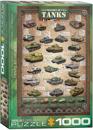 History of Tanks 1000-piece Jigsaw Puzzle - The Tank Museum