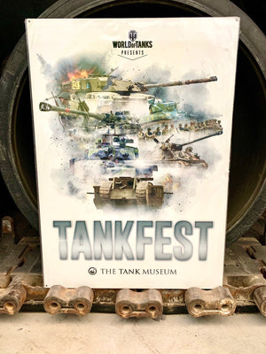 Giant Tankfest Metal Sign - The Tank Museum