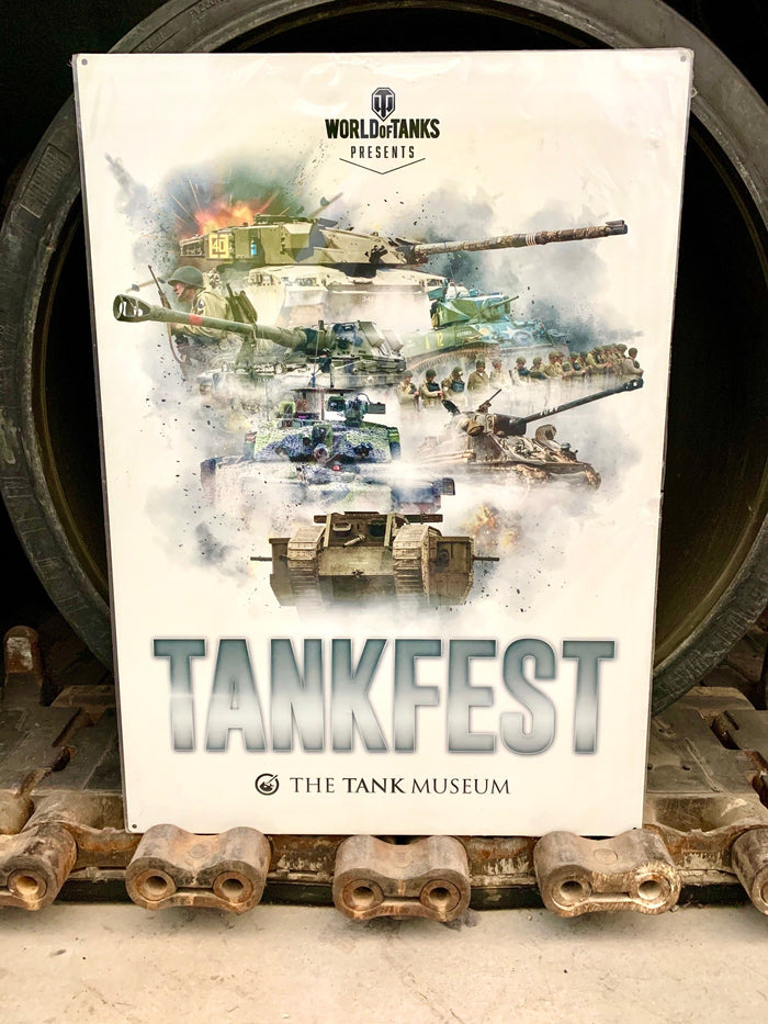 Giant Tankfest Metal Sign