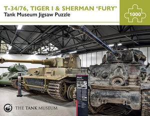 Tank Museum Jigsaw T-34/76, Tiger 1 & Sherman 'Fury' - The Tank Museum