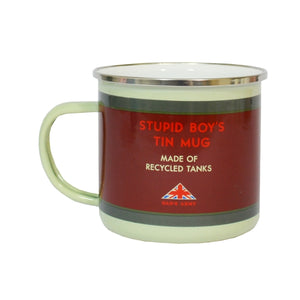 Dad's Army 'Stupid Boy' Enamel Mug - Made Of Recycled Tanks - The Tank Museum