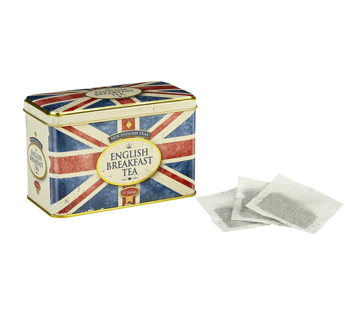 Union Jack Tea Tin with 40 English Breakfast Tea Bags