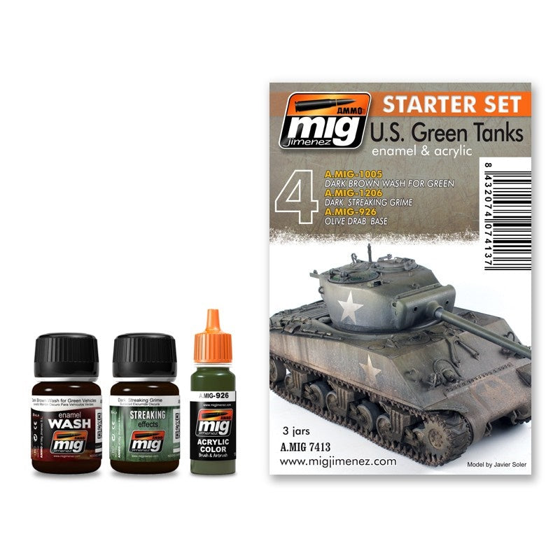 Ammo By Mig US Green Tanks Starter Set