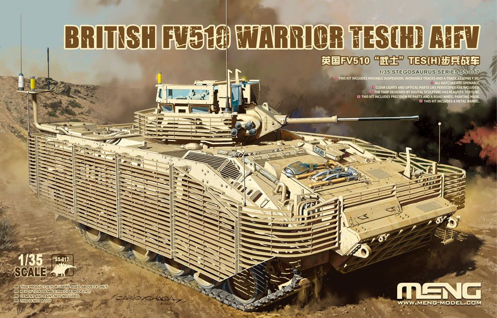 Meng 1/35 British FV510 Warrior TES (H) AIFV - The Tank Museum