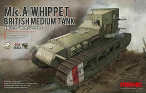 1/35 scale Mk.A Whippet Meng Model - The Tank Museum