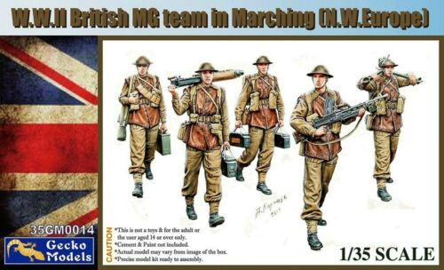 WWII British MG Team Marching (N.W.Europe) Figures