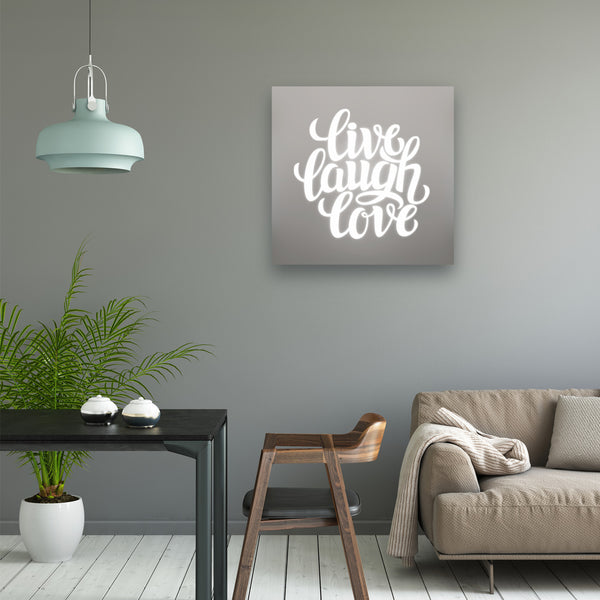 Live Laugh Love Illuminated Mirror