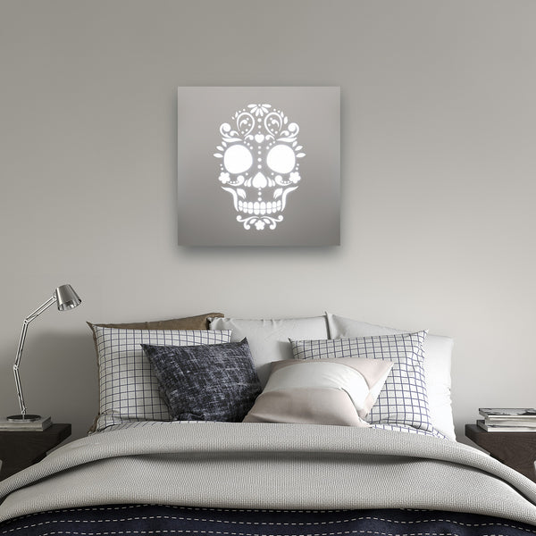 Skull Illuminated Mirror