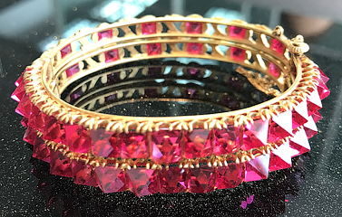Antique Red Spinel Bangle sold at Christie's and still available at Yavorskyy
