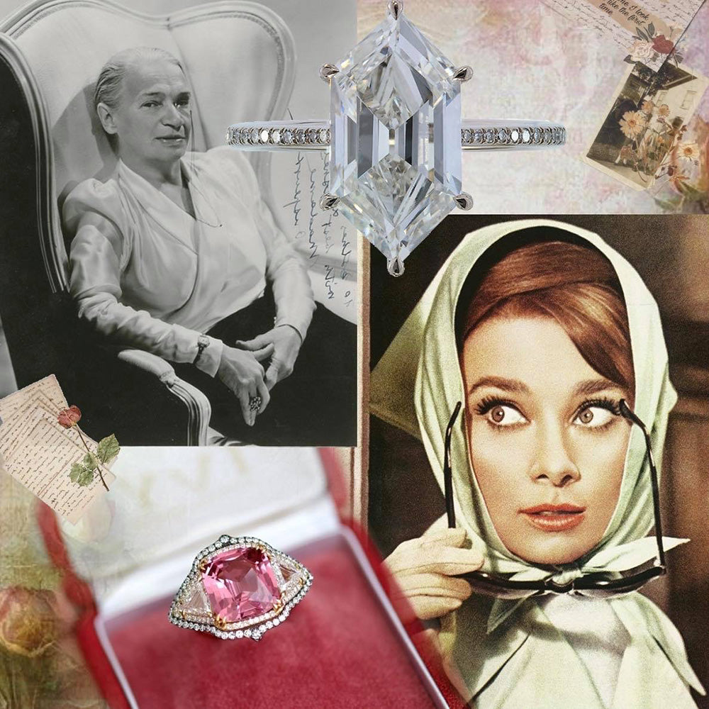 Audrey Hepburn jewelry Audrey Hepburn diamonds Breakfast at Tiffany Holly Golightly jewelry