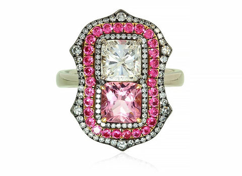 Pink jewelry Pink diamond Pink spinel