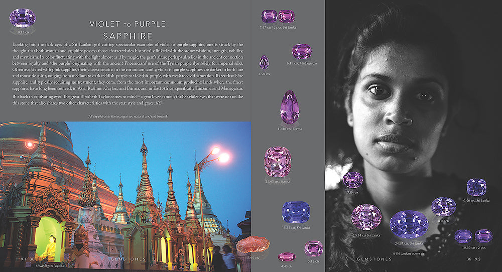 Violet sapphire from Gemstones book