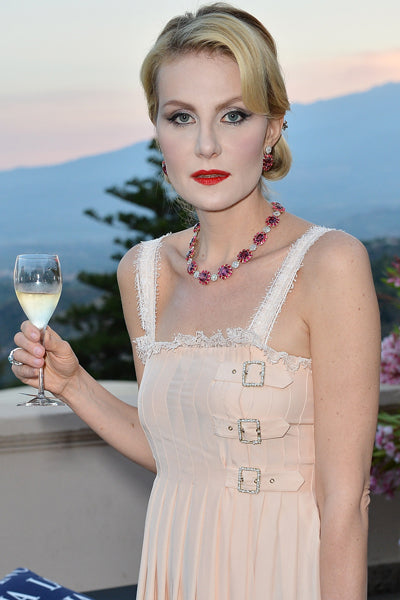 TAORMINA, ITALY - JUNE 17:  Renata Litvinova attends the Lancia Cafe during the Taormina Filmfest 2013  on June 17, 2013 in Taormina, Italy.  (Photo by Tullio M. Puglia/Getty Images for Lancia)
