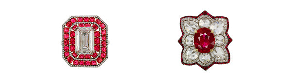 IVY New York ring with ruby, spinel and diamonds