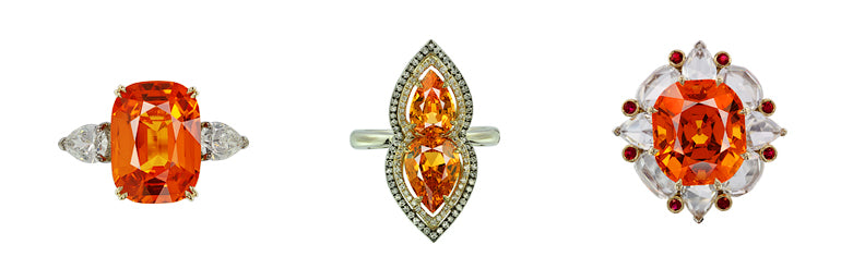 IVY New York ring with mandarin garnet and diamonds