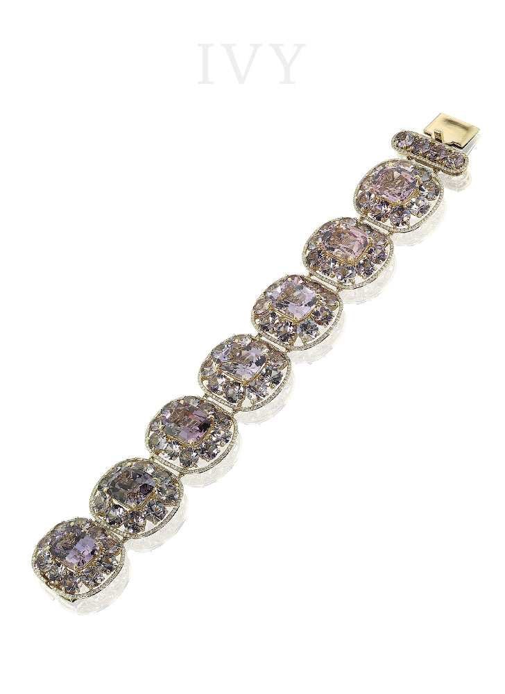 Spinel and Diamond Bracelet