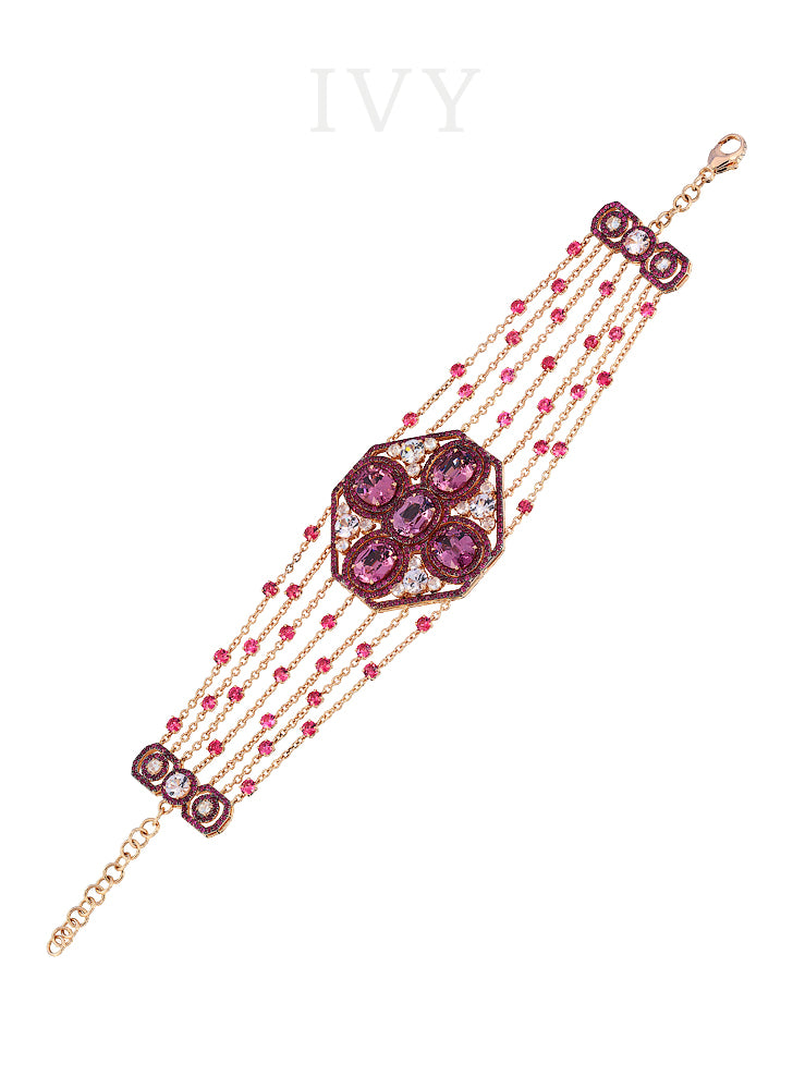 Spinel Ruby and Diamond Bracelet