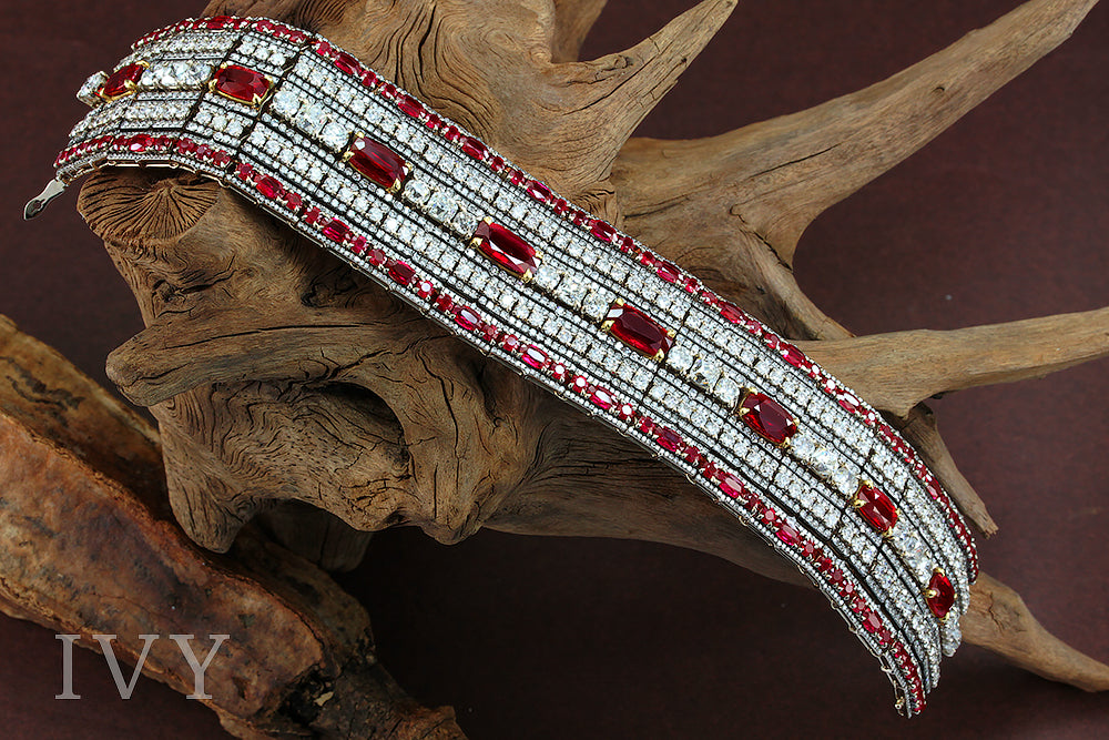 Ruby and Diamonds Bracelet
