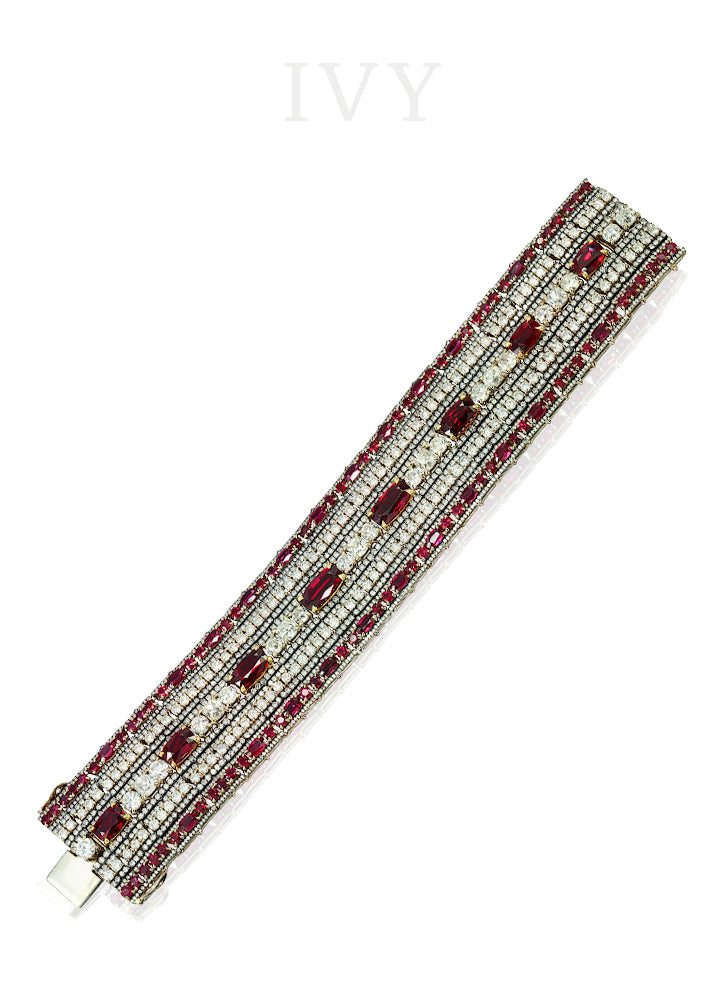Ruby and Diamond Cuff Bracelet