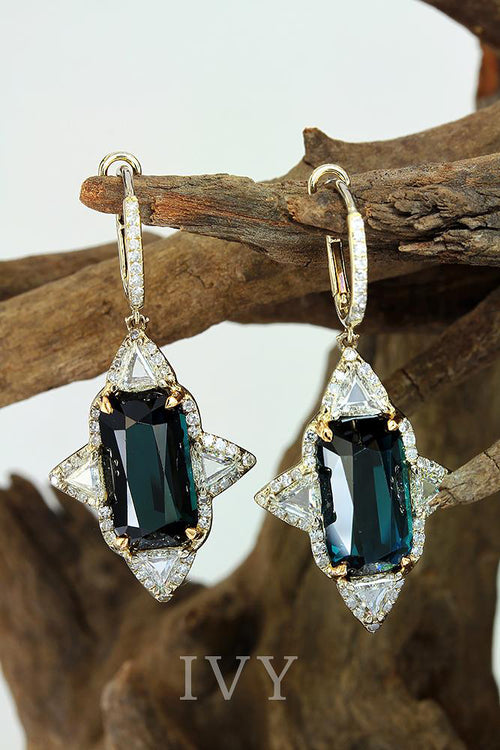Natural Tourmaline Earrings