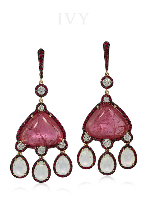 Pamir Pink Spinel earrings