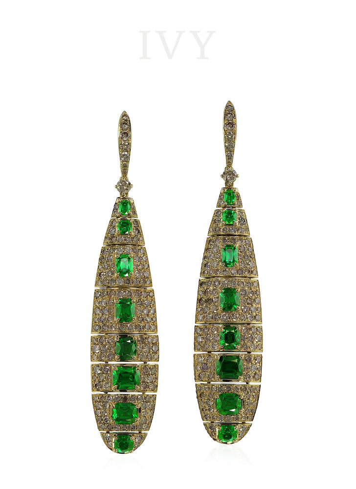 Catch of the Day Tsavorite Earrings