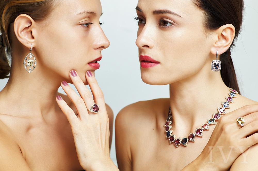 two women in precious jewelery