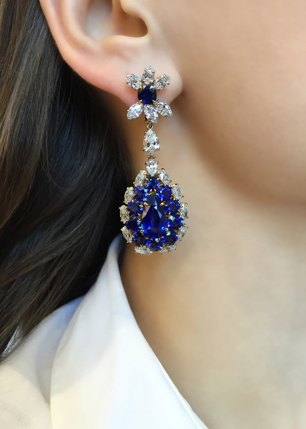 Helicopter Seed Sapphire Earrings