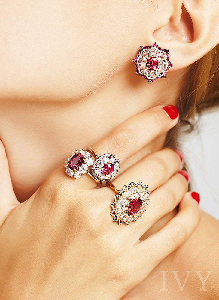 spinel ring red
