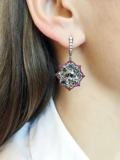 Spinel and Diamond Euryalina Earrings