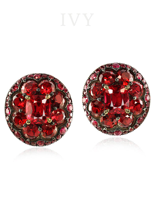 Spinel and Ruby Earrings