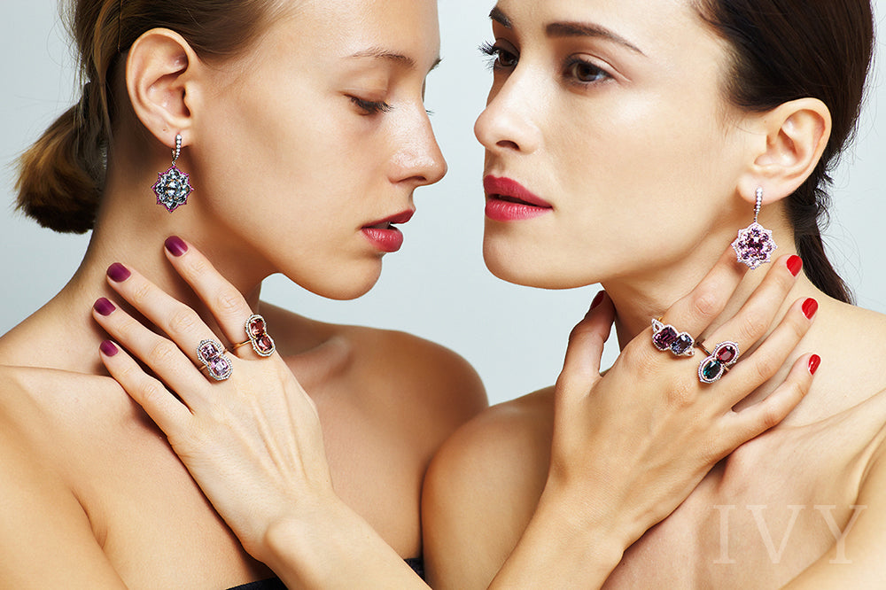 Pink Spinel and Diamond Euryalina Earrings