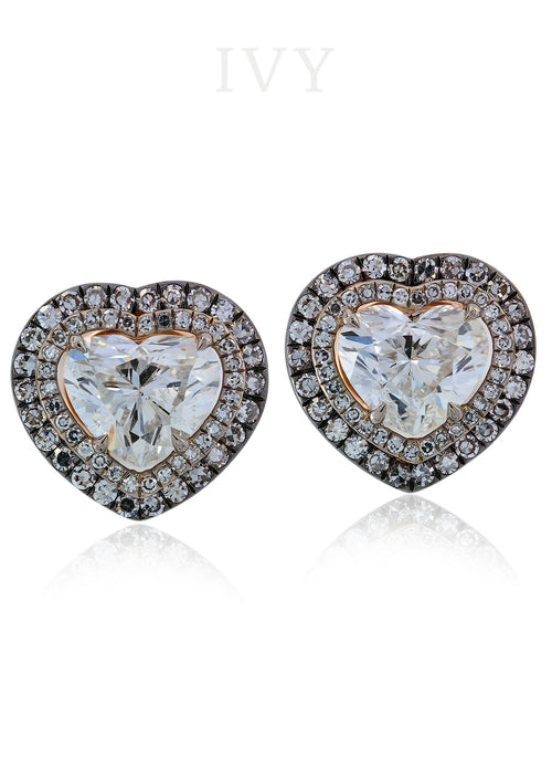 Diamond hearts Earrings