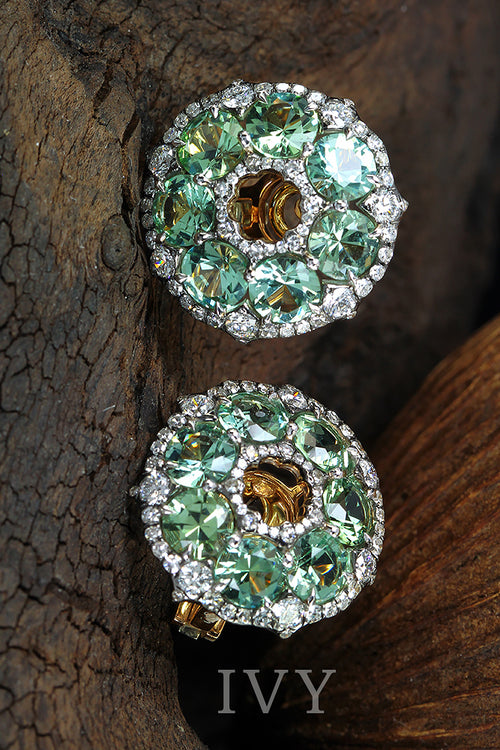 Tourmaline wreath Earrings