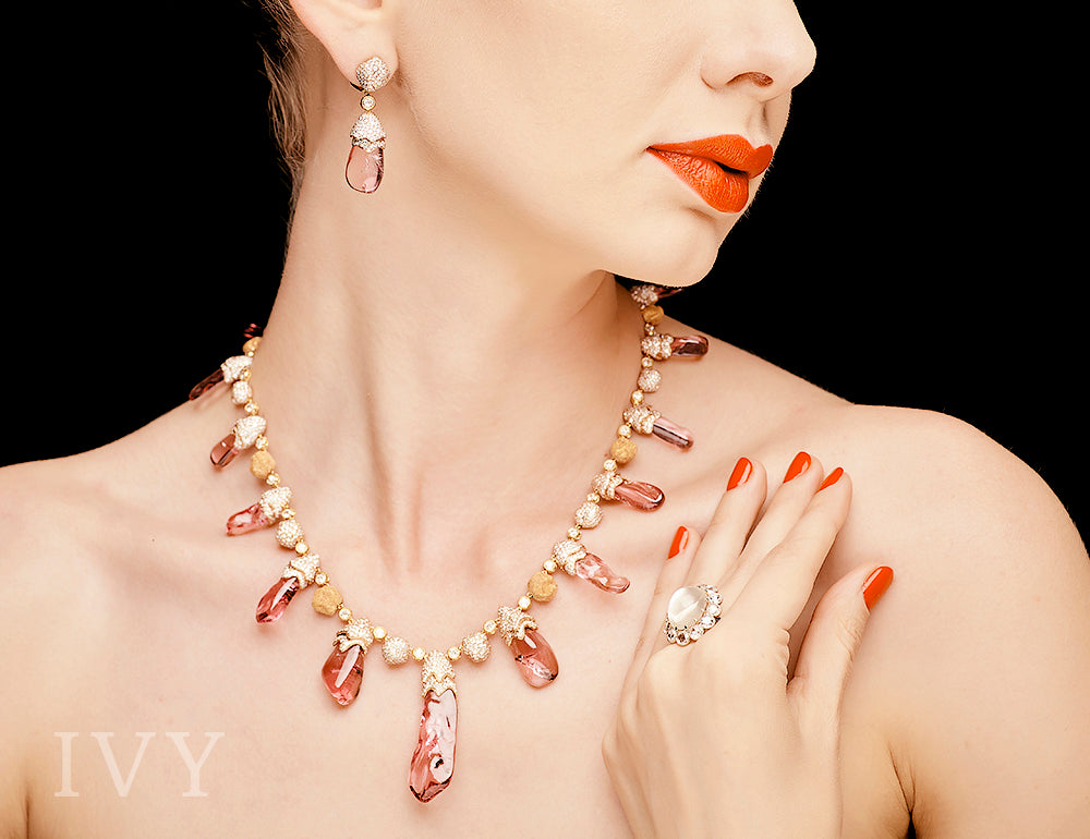 Marco Polo Spinel Crystal Necklace