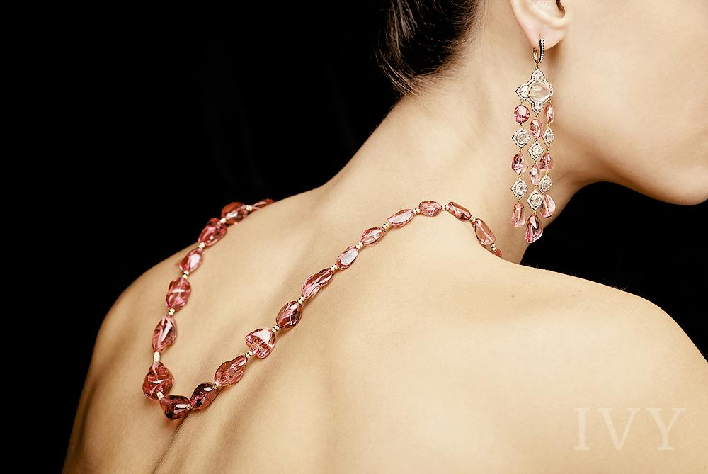Pink Spinel Maharani Necklace
