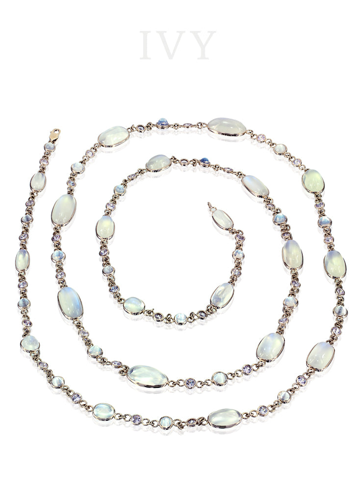 Moonstone and Spinel Chain