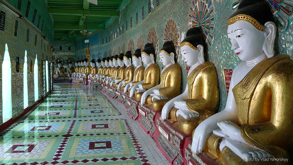 Buddhist temple in Sagaing Burma