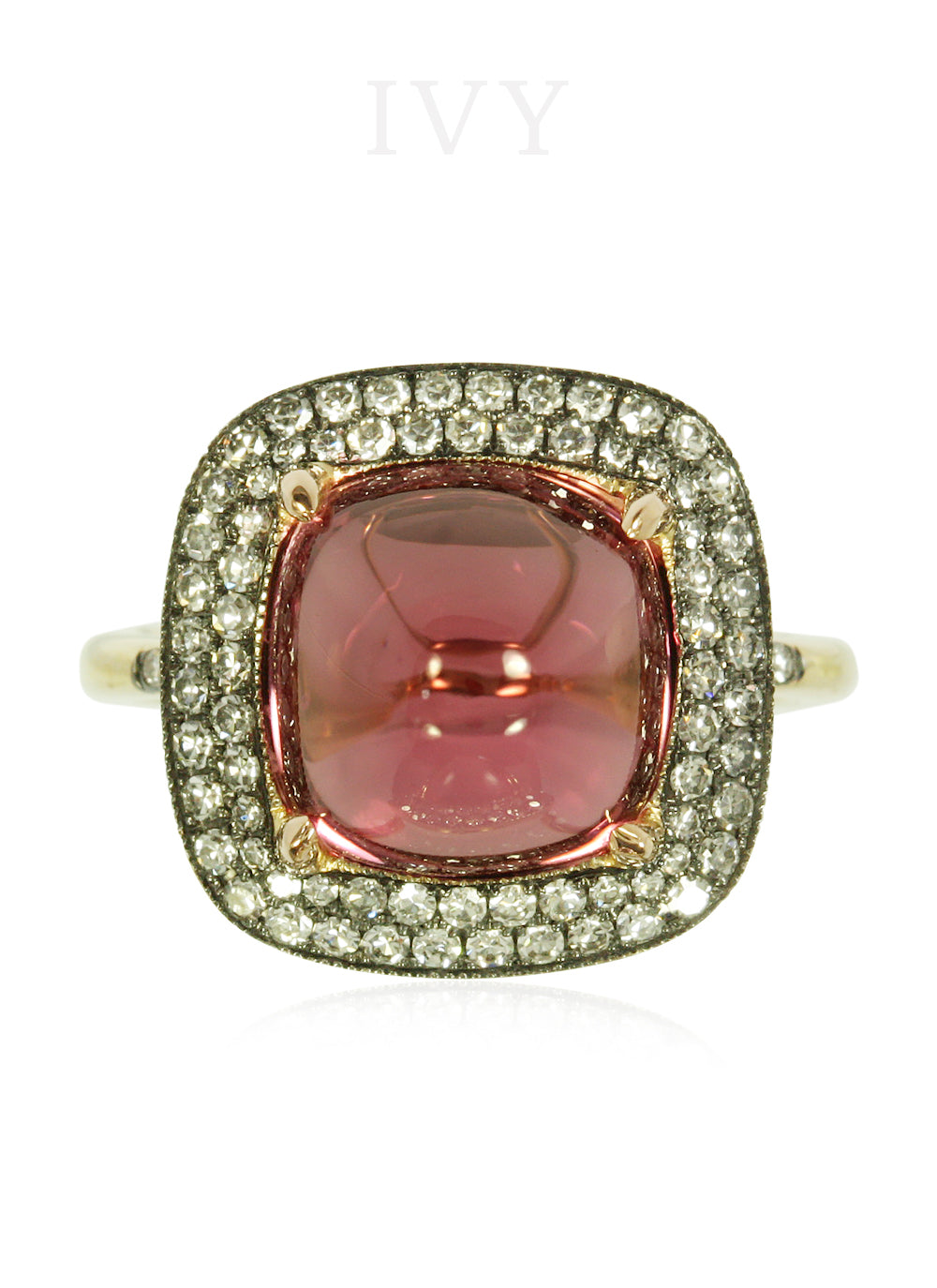 Pink Spinel Sugar Loaf Ring