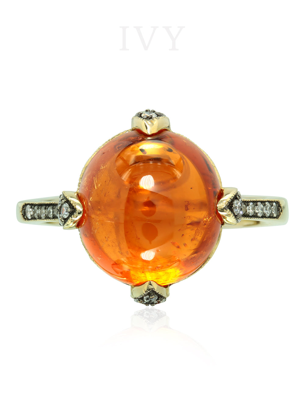 Mandarin Fireball Ring