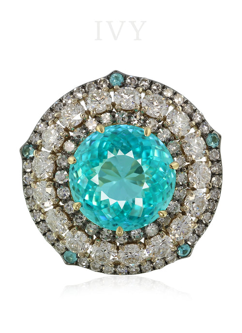 Paraiba engagement ring