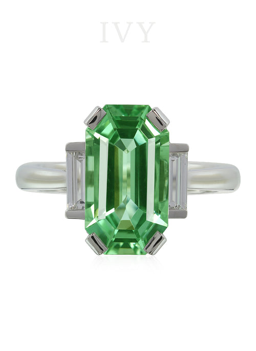 Beryl and Diamond Ring