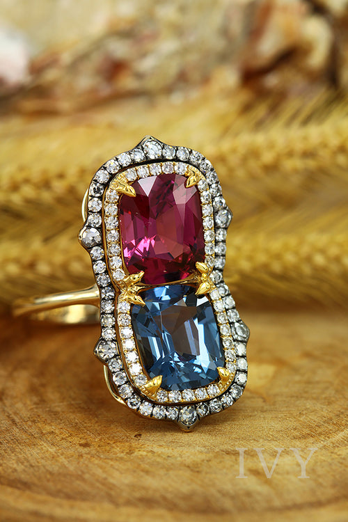 Burma Spinel Gemini Ring