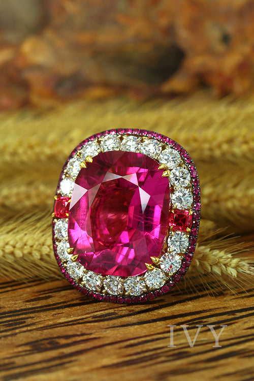 Rubellite Unchained Ring