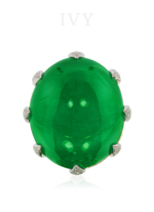 The Globe Emerald and Diamond Ring