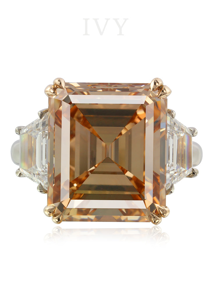 Fancy Brown-Orange Diamond Ring