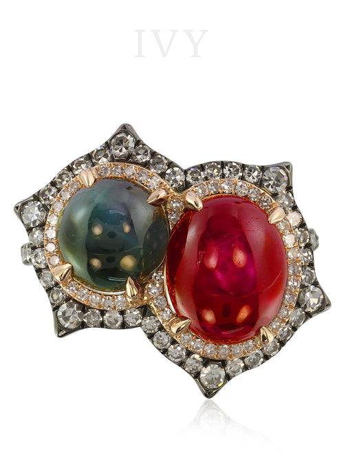 Alexandrite and Ruby Ring