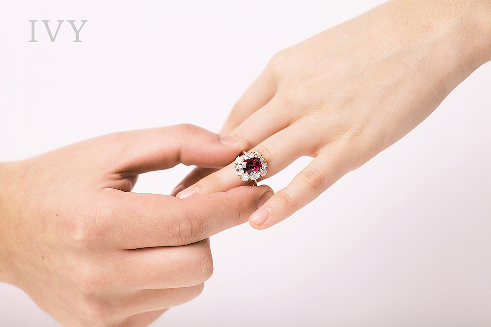 Buy red spinel ring