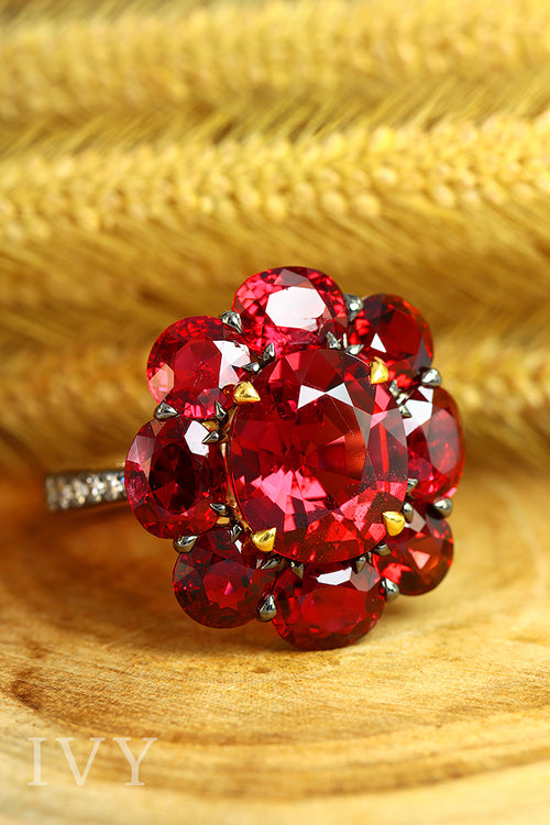 Burma Red Spinel Ring